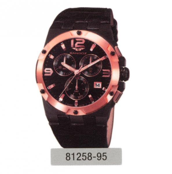 827c772607a5 Reloj cronógrafo Sandoz - Negro y bronce correa negra - Sandoz ...