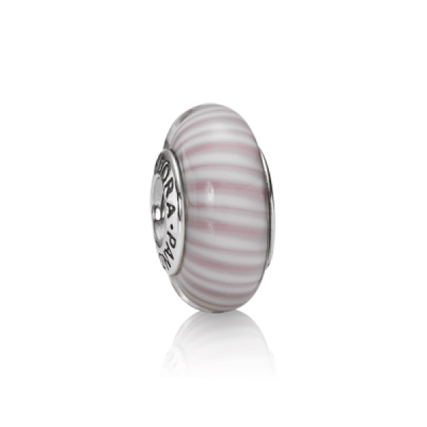Glass Lavender Candy Stripes - Pandora - Plata - foto 1