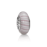 Glass Lavender Candy Stripes - Pandora